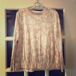 Loft patterned lightweight sweatshirt
